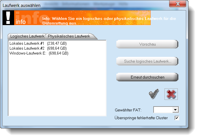 Datenrettung mit PC Inspector File Recovery