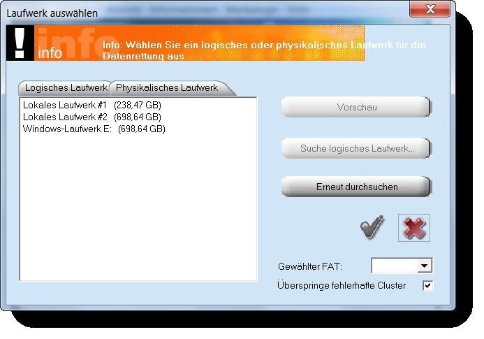 Datenrettung mit PC Inspector File Recovery