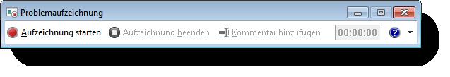Windows Problemaufzeichnung