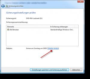 Windows Sicherung nach Zeitplan