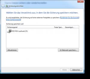 Windows Sicherung einrichten