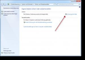 Windows Sicherung sdclt.exe