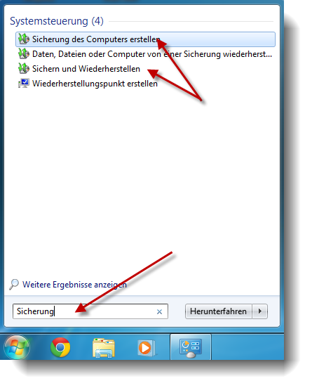Windows Sicherungsprogramm