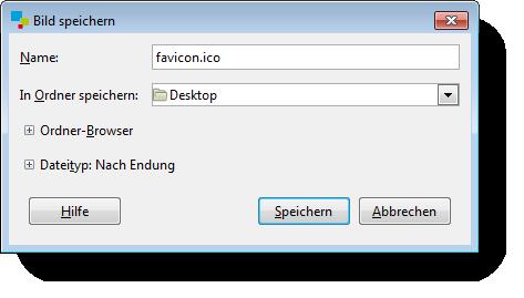 Gimp speichern unter ico Datei