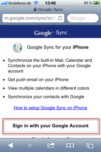 Google Mail iPhone Sync