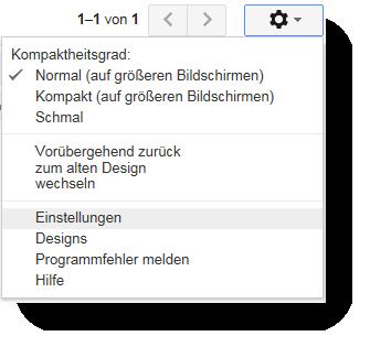 Google Mail Einstellungen