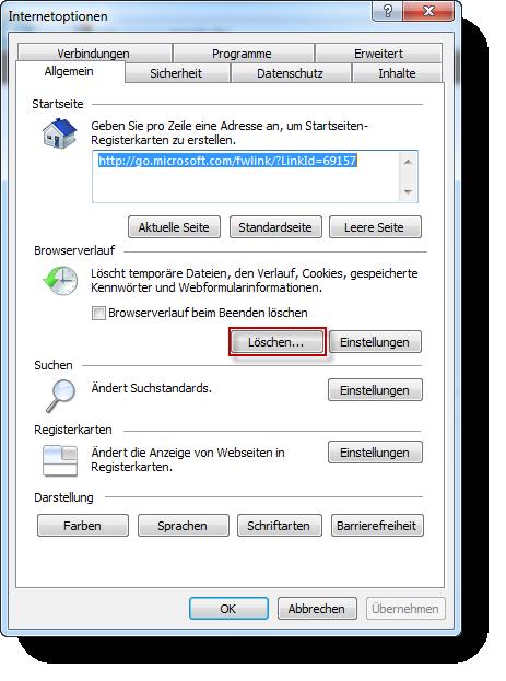 Internet Explorer Cache Leeren