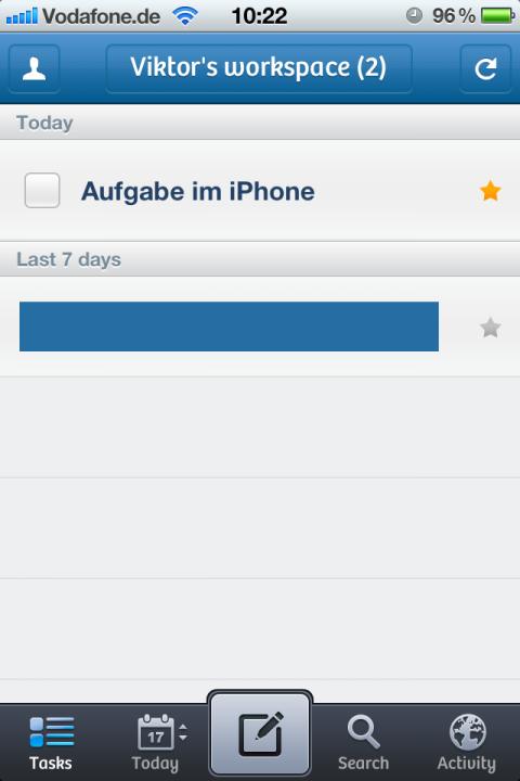 iPhone Taskplaner Producteev