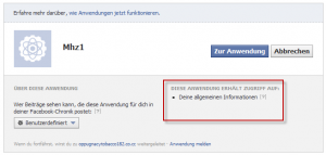 Facebook Informationen
