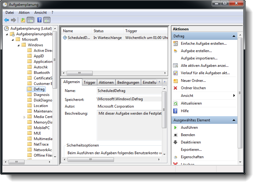 Windows Aufgabenplanung