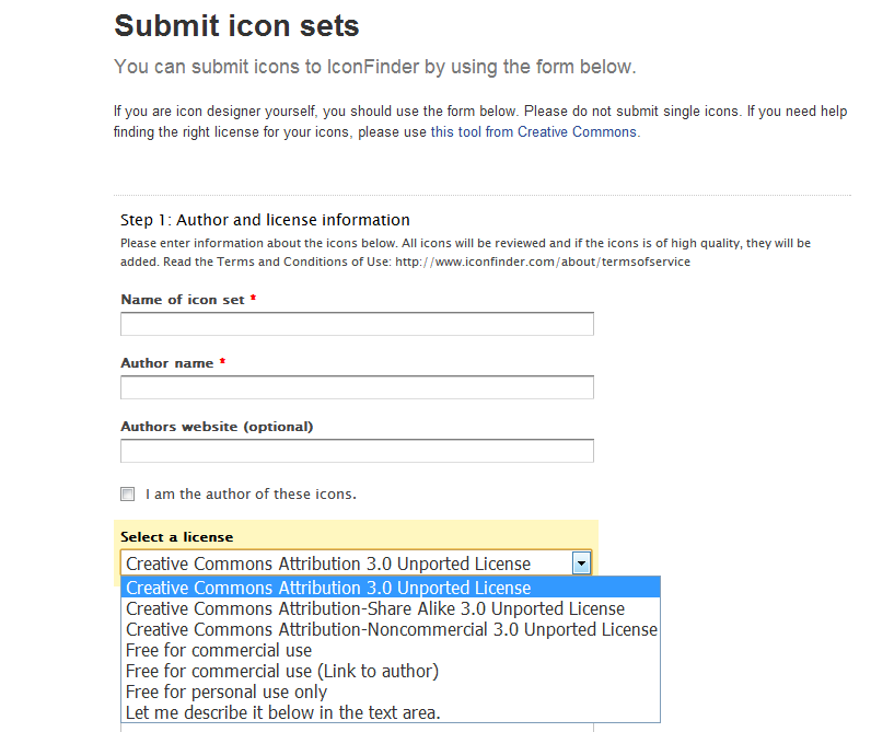 iconfinder submit