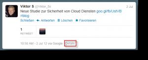 Twitter Tweet Details