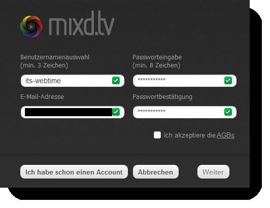 mixd registrierung