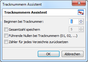 mp3tag Tracknummern Assistent
