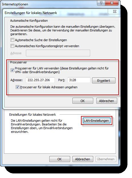 Internet Explorer Proxy