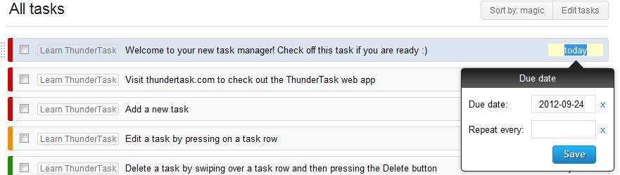 Thundertask Deadline