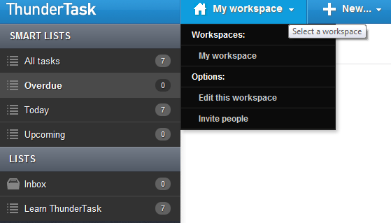 Thundertask Workspace