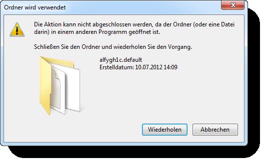 Datei in Verwendung