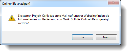 Osrik erster Start