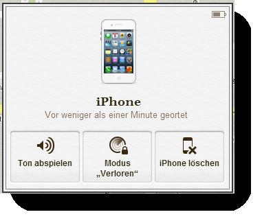 iCloud Aktionen