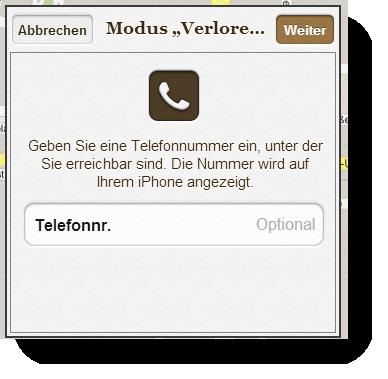 iCloud Modus Verloren