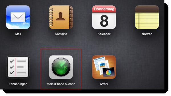 iCloud Webseite