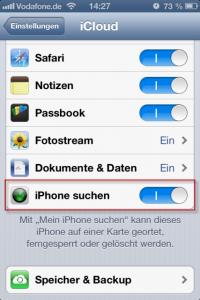 iCloud iPhone suchen