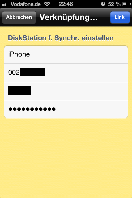 DS File Cloud Station Anmeldung