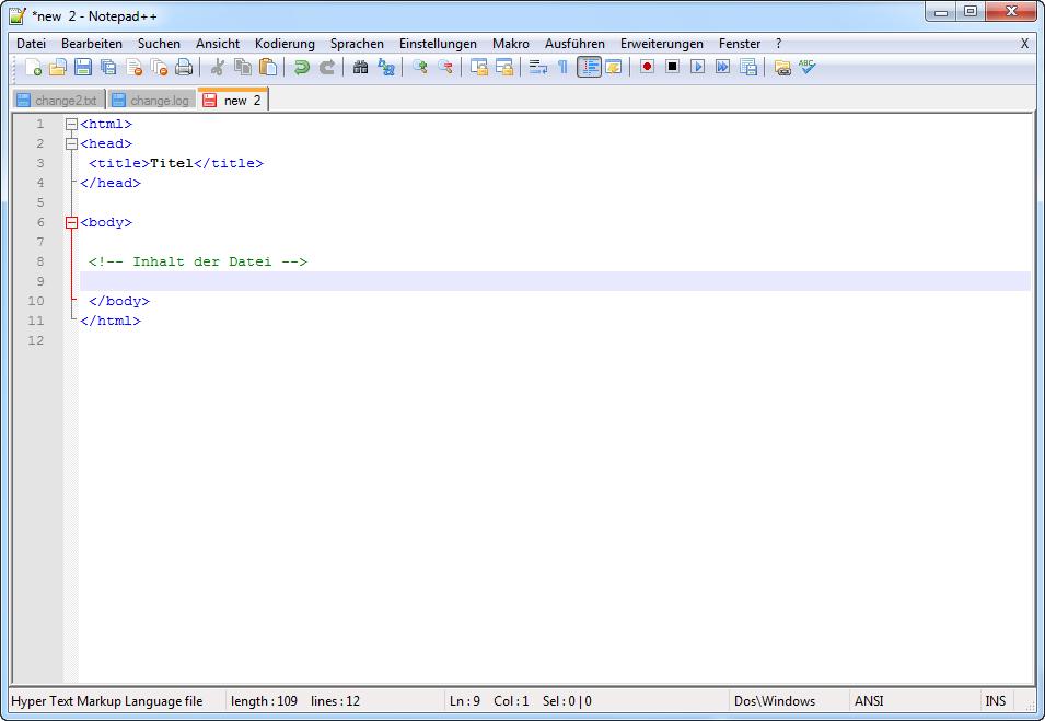 Notepad++ Syntaxhighlighting
