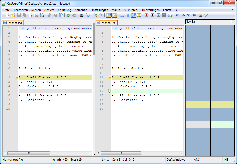 Notepad++ Text Compare