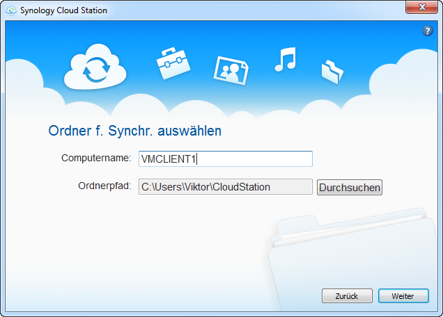Synology Cloud Station Client Dateipfad