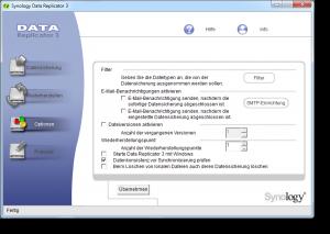 Synology Data Replicator Optionen