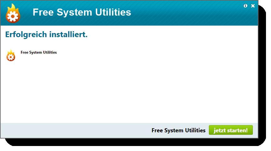 Free System Utilities Setup abgeschlossen
