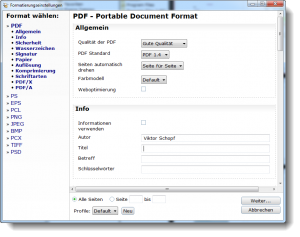 PDF24 Speichern