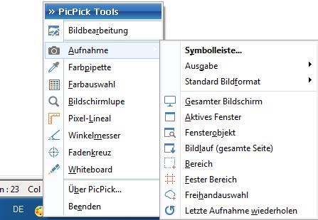 PicPick Tray icon