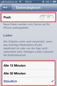 iPhone Push und Datenabgleich
