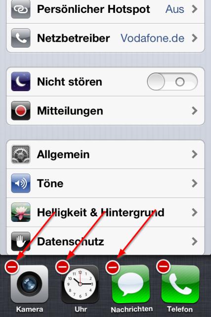 iPhone Multitasking Apps schließen