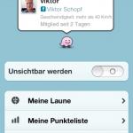 Das eigene Profil bei Waze verwalten
