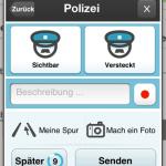 Polizeikontrolle melden
