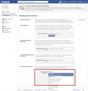 Facebook app blockieren