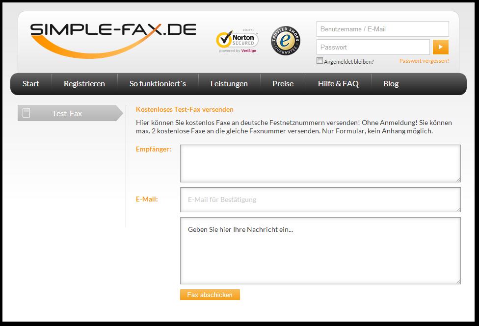 Fax-Empfang online testen