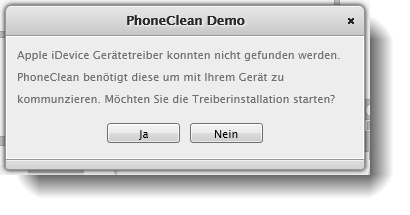 PhoneClean Treiberinstallation