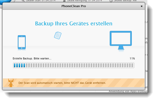 PhoneClean iPhone Backup